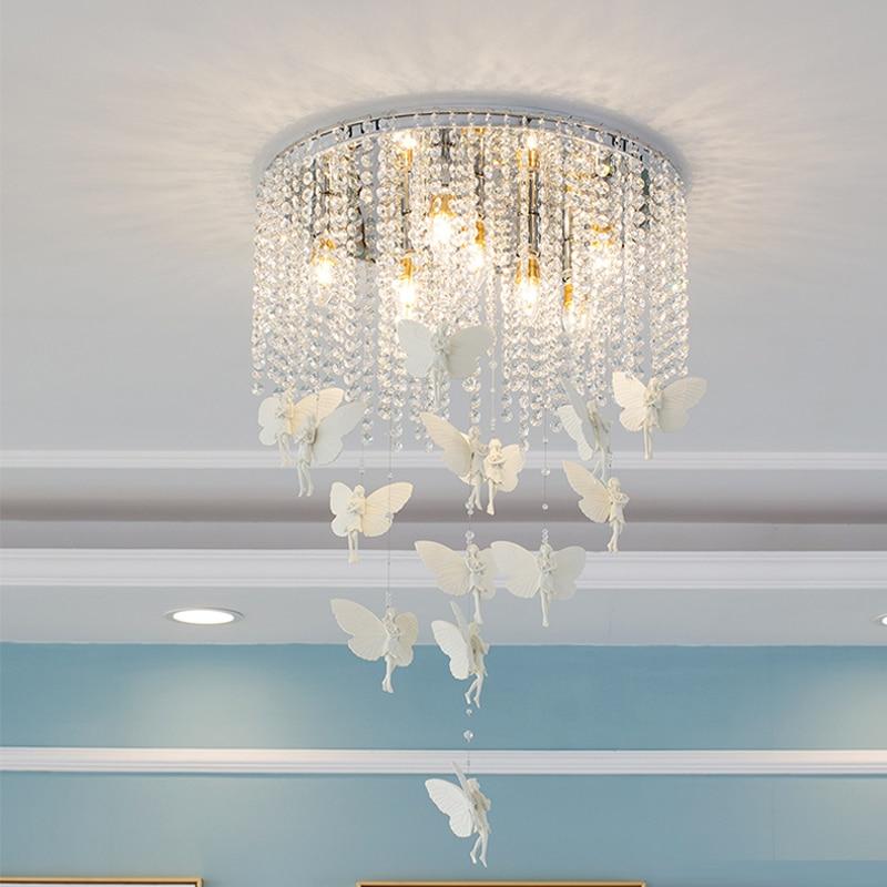 Creatieve Lampen Mode Schoonheidssalons Kleding Winkels Kapper Winkels Decoratieve Crystal Plafond Lampen Woonkamer Slaapkamer Led-verlichting Voldoende Aanbod