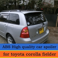 For Toyota Corolla Fielder spoiler 2003 2009 fielder spoiler with High Quality ABS Material unpaint Color Rear spoiler