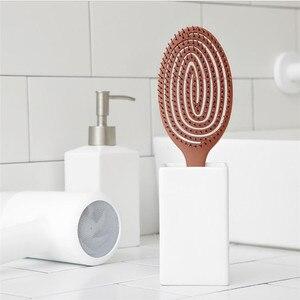 Image 2 - Youpin Xinzhi peine de masaje elástico relajante, cepillo de pelo portátil, cepillo de masaje, cepillos mágicos antiestáticos, peinetas para la cabeza