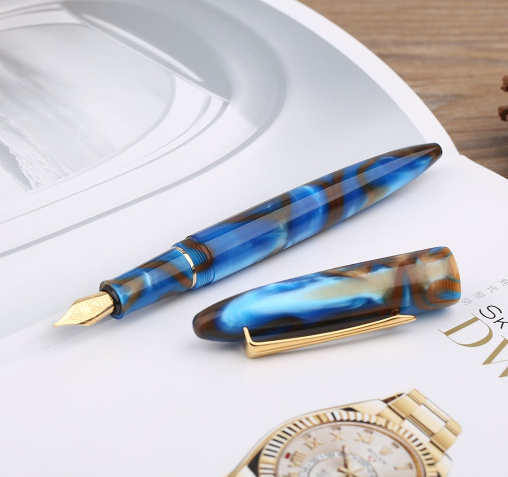 Moonman M100 Acrylic Resin Creative Fountain Pen Schmidt Converter and Fine Nib 0.5mm Ink Pen Gold Trim Writing Gift Pen Set A04 2018 xiaomi ecological chain brand wima electro mechanical anti theft smart cylinder zigbee version mihome app control 5pcs keys