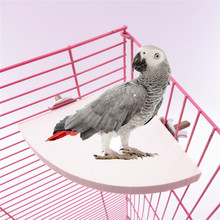 1Pc New Pet Bird Parrot Wood Platform Stand Rack Toy Hamster Branch Perches For Bird Cage Toys 3 Sizes Pet Supplies(China)