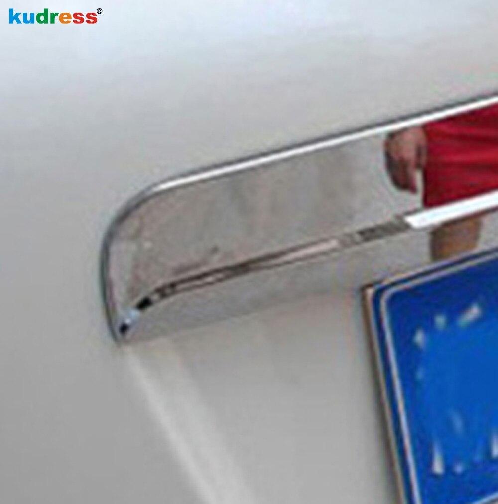 Pro Nissan Qashqai Dualis 2007 2008 2009 2010 2011 2010 2013 ABS Chrome Zadní část zavazadlového prostoru Ochranný kryt zadní části bez klíčových dír