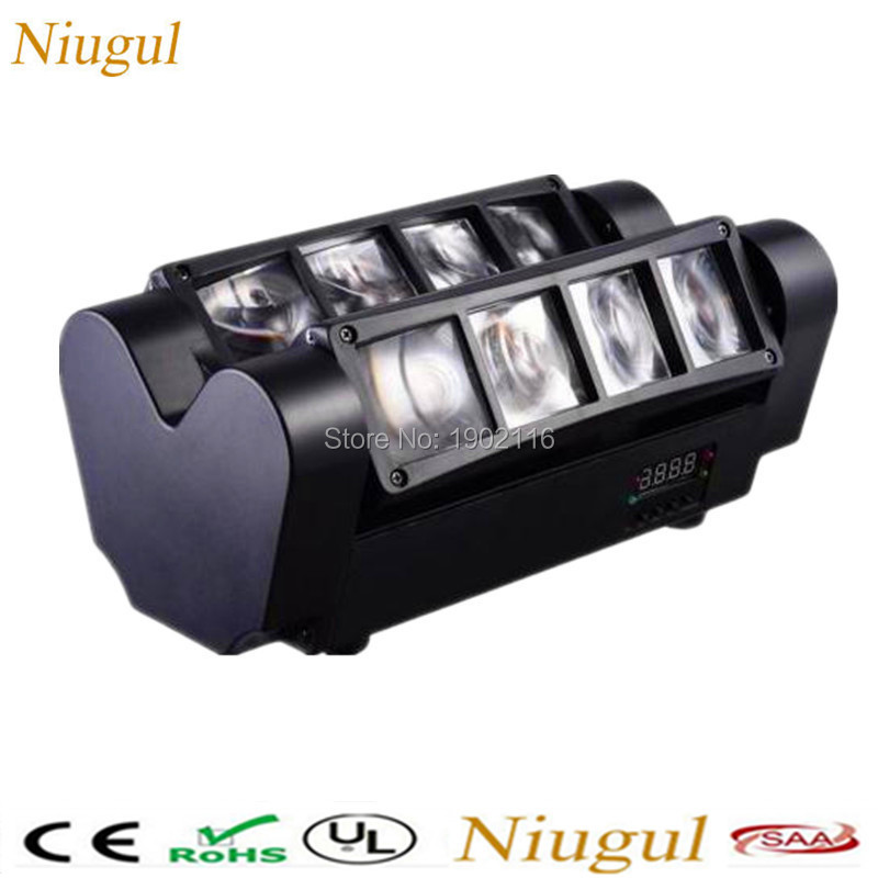 Niugul Mini led spider light/8X10W RGBW led BEAM light/dj party ktv DMX512 stage lighting/Wedding led lights DHL Free shipping wedding lighting entertainment system modern outdoor professional commercial lighting led dj light mini party for mixer audio