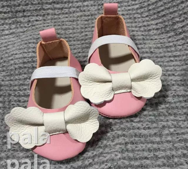 2016 summer handmade butterfly-knot moccasins soft soled Genuine leather Prewalker Princess Mary jane Newborn Baby girl shoes