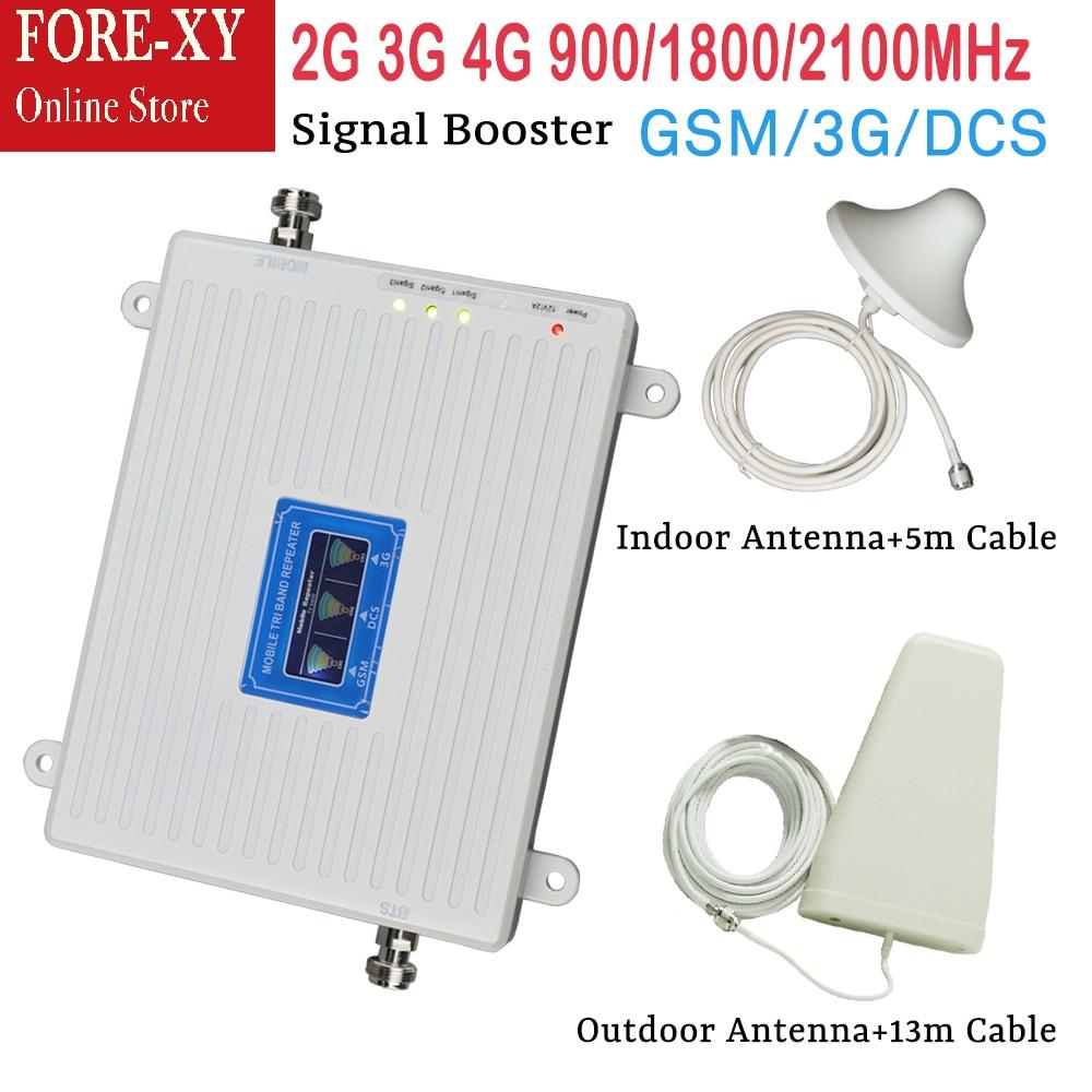 Le plus nouveau propulseur de signal d'affichage à cristaux liquides de GSM 900 mhz 2G 4g amplificateur mobile 3g répéteur amplificateur de signal dcs ensembles de propulseur de signal de téléphone