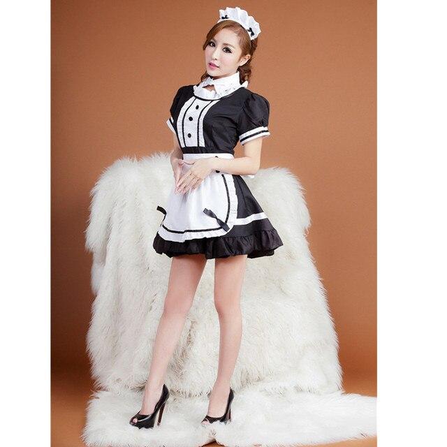 Sexy femme de chambre française Costume robe de soirée sexy femme de chambre uniforme Cosplay costume de femme de chambre halloween