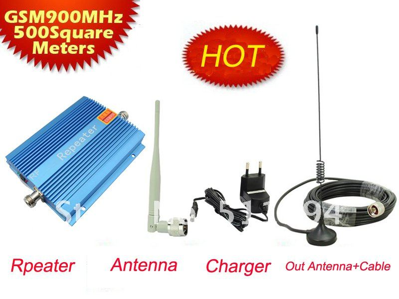 GSM 950 900Mhz Mobile Phone Signal Booster,900Mhz GSM Repeater Signal Amplifier With 10m Cable + Antenna