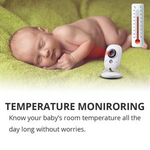 Image 3 - Wireless Baby Monitor VB603 3.2 inch BeBe Baba Electronic Babysitter Radio Video Baby Camera Nanny Temperature Monitoring Camara