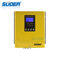 Suoer Low Frequency 12V DC to 220V AC 1000W Pure Sine Wave 30A PWM Controller Hybrid Solar Inverter With AC Charger 20A(PL 1KVA)