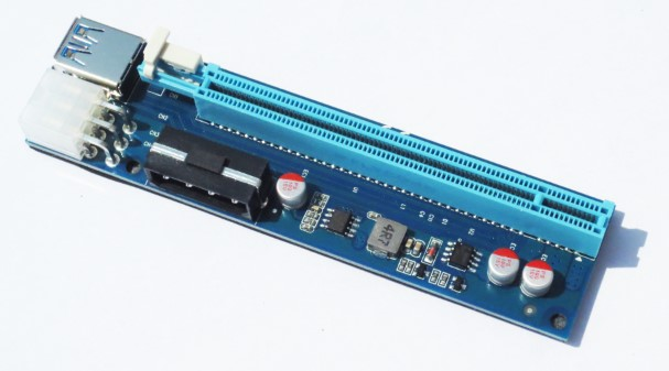 20x PCI-E Express USB3.0 1x to 16x Extender Riser Card Adapter SATA Power Cable