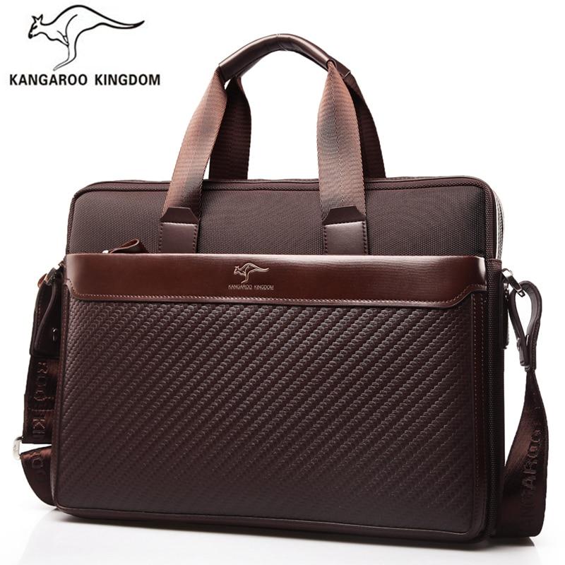 Kangaroo Kingdom Luxury Men Bag Oxford Business Men Briefcase Laptop Bag Brand Handbag Shoulder Messenger Bags