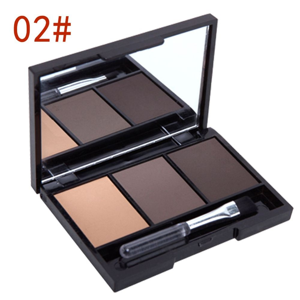 New Professional Kit 3 Color Eyebrow Powder Shadow Palette Enhancer with  Ended Brushes Hot Sale - us809 fc9ccfa1910e
