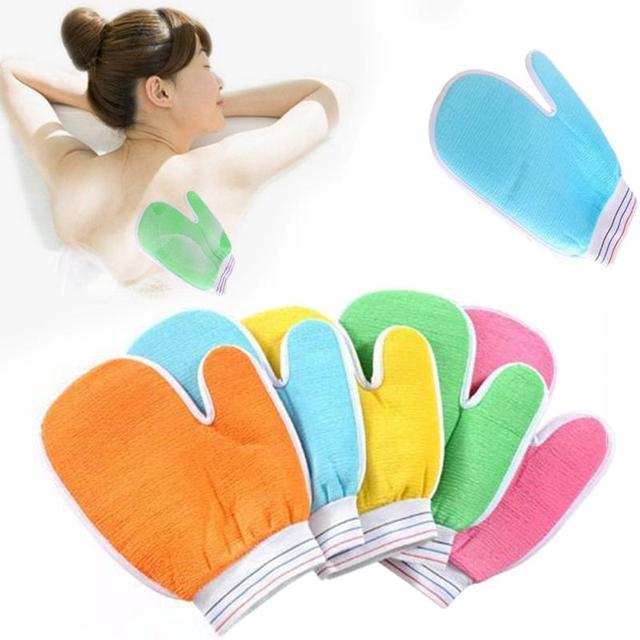 Doccia Scrubber Esfoliante Scrub Indietro Skid Resistenza di Massaggio Del Corpo
