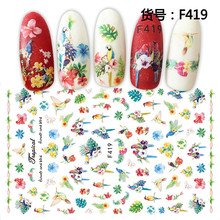 1Sheets 3D Embossed Nail Sticker Flower Adhesive DIY Manicure Slider Nail Art Tips Decorations Decals Transfer Sticker Manicure 1pcs 3d nail sticker colorful glitter flower geometry new slider for manicure decoration tips nail art adhesive decals