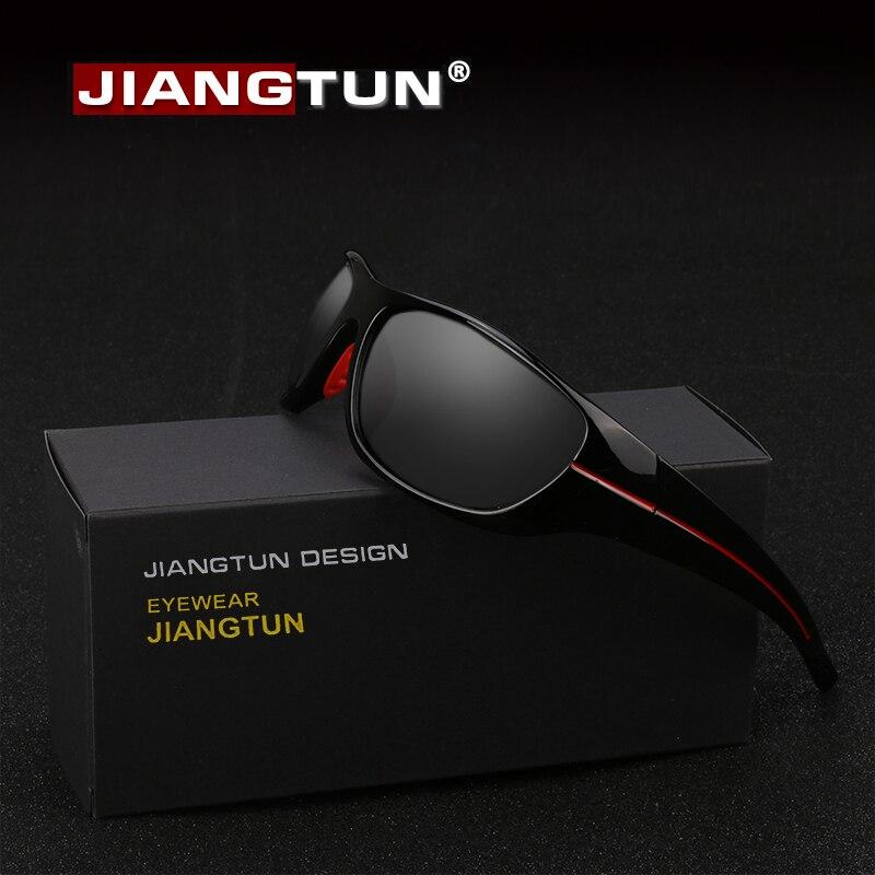 Jiangtun venda quente qualidade polarizada óculos de sol das mulheres dos homens condução gafas de sol hipster essencial