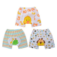 3Pcs Lot Baby Shorts PP Pants Cotton Underwear Boys Girls Clothes Animal Style Summer Wear Thin Breathable Free Shipping QD31