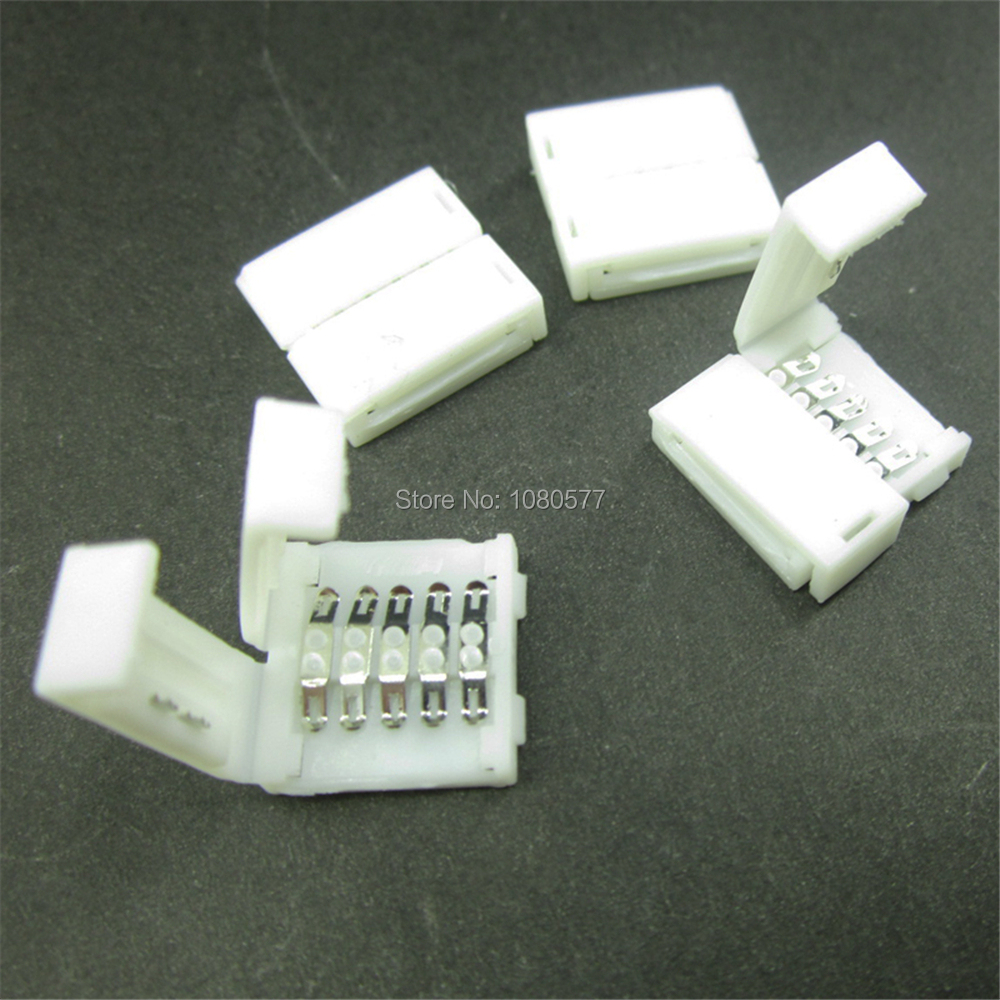 10Pcs/Lot 12mm 5Pin LED Strip Connector 5 Pin Connectors Free Welding Extension Wire Connection for 5050 RGBW RGBWW LED Ribbon 5pair 10pcs 5 pin 12mm male