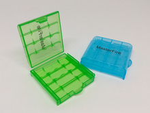 50PCS/LOT New Mini Portable Plastic Battery Case Holder Storage Box For AA AAA Rechargeable Full Cover Top Quality