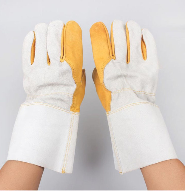 Welding gloves Safety Gloves Workplace Safety Supplies Security & Protection Welding special leather gloves Division of duties