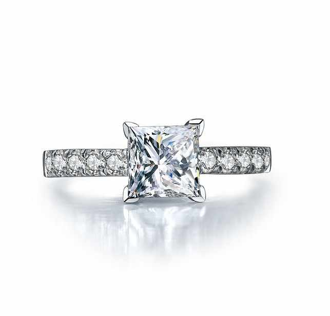 bague diamant princesse 1 carats