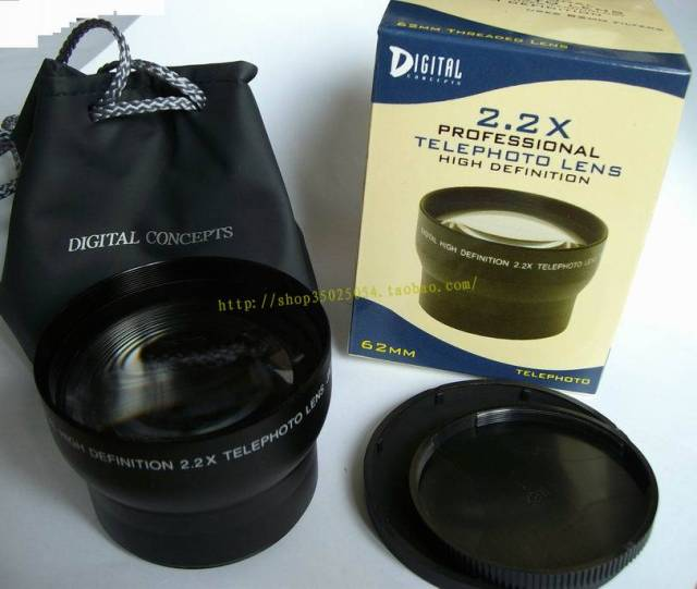 22x 62mm Tele Telephoto Lens Magnification For 62 Mm Canon Nikon