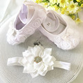 Kids little flowers Shoes for Girl Princess Lace Headband Cute Infant Girl Toddler Shoes Set Newborn Photography Props 5TX03