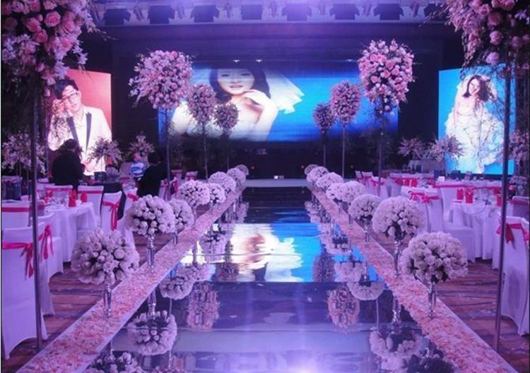 1 For Decor Wedding Carpet Side Party Roll Aisle M 2 Supplies Silver Backdrop Runner Per Wide Gold 30m Decoration Luxury Mirror