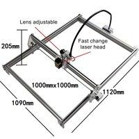 Carving Size 100 100CM Mini LY 500mw 1000mw 2500mw 10W Blue Violet Mini Laser Engraving Machine