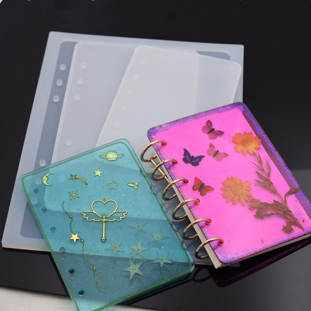 Notebook Cover Silicone Mold Resin Silicone Mould Handmade DIY Jewelry Making Epoxy Resin Molds