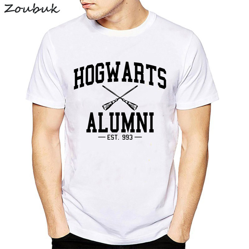 New Novelty Design Hogwarts Alumni T Shirt men fashion funny Harajuku casual tshirt male tumblr shirt summer top mens clothing