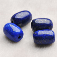Free Shipping Genuine Blue And Gold Natural Lapis Lazuli Stone Fashion Jewelry Necklace Bracelet DIY Loose Stone Beads