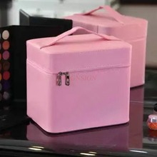 Cosmetic Bag Large Capacity Cute Ladies Multi Layer Storage Travel Portable Cosmetics Case Makeup Pack Make Up Packet Toiletry makeup pack cosmetics case professional storage large box partition portable 3 layer beauty tattoo kit cosmetic bag make up