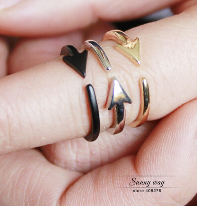 Timlee R114 Free shipping  Grace Fashion Small size Arrow finger Rings,Fashion Jewelry Wholesale HY