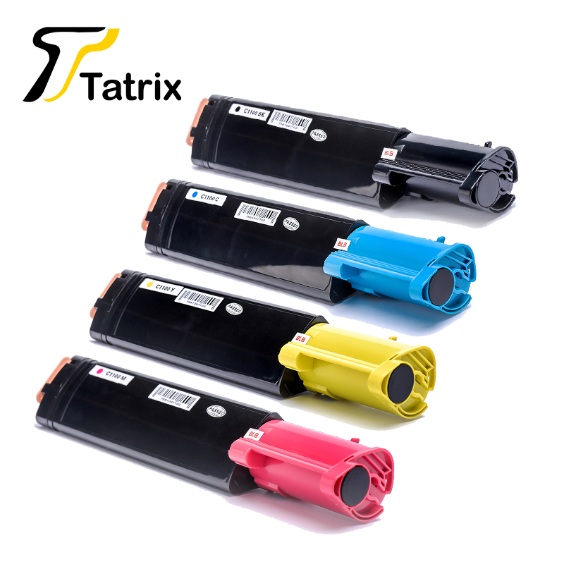 New C1100 BK C M Y Compatible Toner Cartridge For Epson C1100 cx11 Priner