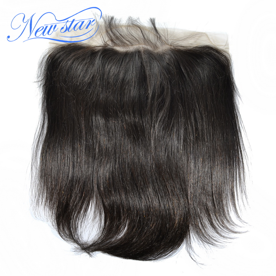 Closures Lace-Frontal Virgin-Hair Pre-Plucked 13x6 Hairline Straight Brazilian 100%Human-Hair