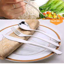 TTLIFE Silver Cutlery Set Stainless Steel Dinnerware 3 Pieces Quality Fork Spoon Knife Flatware Set Tableware Dinnerware