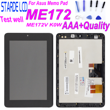 """7"""" for Asus MeMO Pad ME172V ME172 K0W LCD Display Touch Screen Panel Glass Digitizer Assembly with Frame Replacement"""