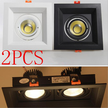 2Pcs 10W 20W 30W  LED DIMMABLE110/220V COB Ceiling Downlight Recessed Wall lamp Spot light With Driver For Home Lighting