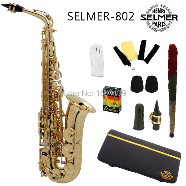 Brand New Genuine France Selmer Alto Saxophone 802 Professional E Sax mouthpiece With Case and Accessories brand new france selmer alto saxophone r54 professional e black white key sax mouthpiece with case and accessories