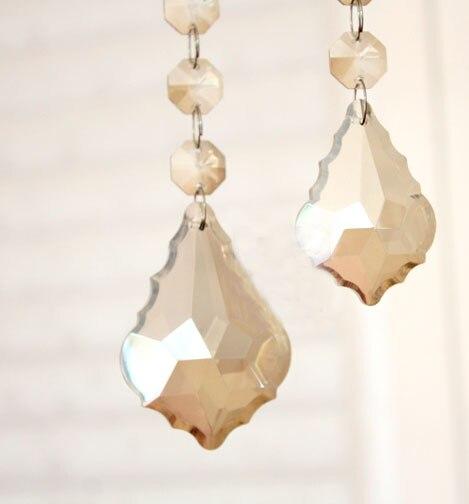 Wholesale price,Free shipping(192pcs) 50mm Cognac crystal lamp parts/ chandelier pendant parts, Quartz suncatcher pendants