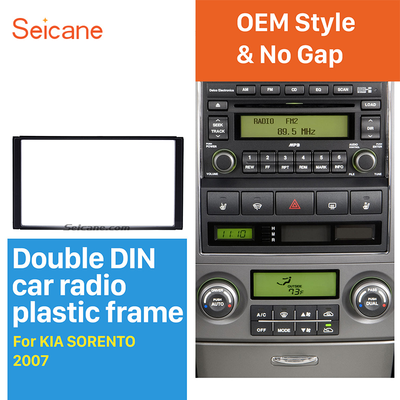 Seicane 173*98mm Double Din Car Radio Fascia Trim Kit for 2006-2009 KIA SORENTO Dash Mount Car Refitting DVD frame Autostereo seicane exquisite 202 102 double din car radio fascia for 2009 2013 toyota avensis dvd frame in dash mount kit trim bezel