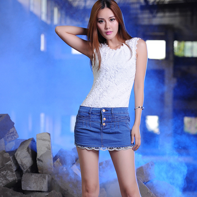 2018 Denim Skirts Womens Summer 2015 Casual Brief Denim Skirt High Waist  Slim Package Hip Blue Jeans Skirt Mini Skirt Saia Jeans B61 From  Beautyparadise, ...