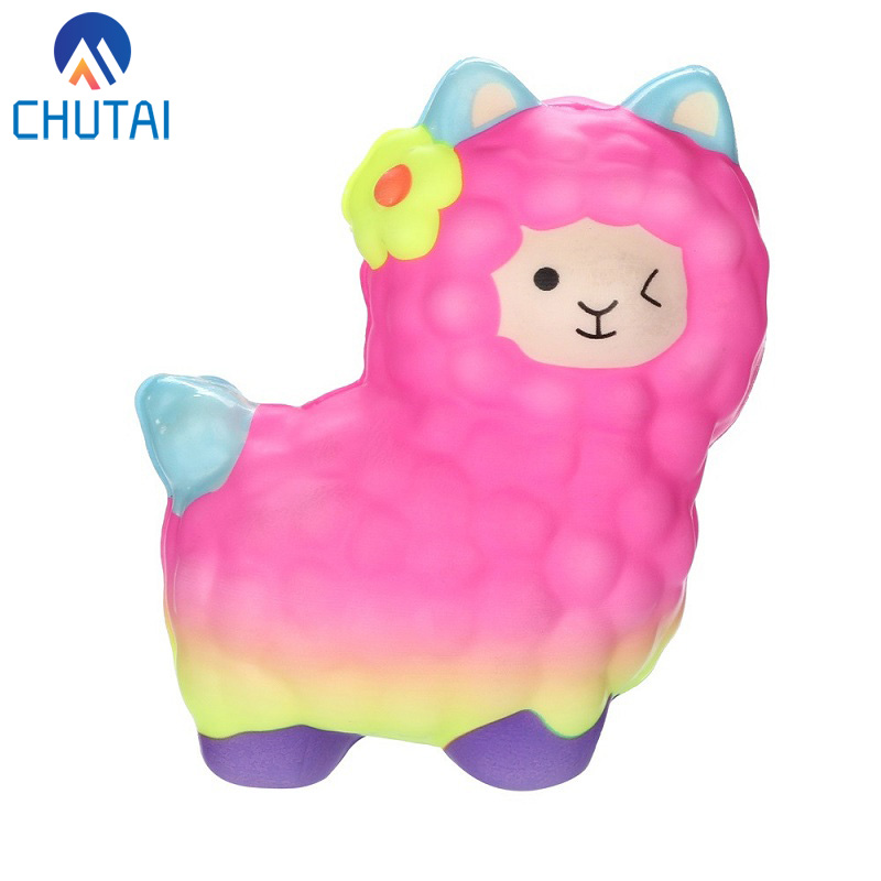 Cute Squishies Squeeze Toy Antistress Sheep Alpaca Squishy Super Slow Rising Scented Stress Reliever Toys Baby Kids Gift 12*10CM
