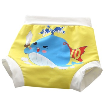 Reusable Girl&Boy Cloth Diaper Baby Cartoon Swim Nappy Pants Leakproof Learning Swimming Children Swimwear For