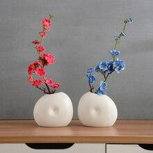 Classic Ceramic vase Buddhist mood Plum blossom Flat bottle sets Dry flowers Crafts creative gift home wedding decoration