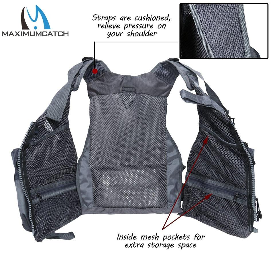 Maximumcatch Fly Balıqçılıq Vest Tənzimlənən Mutil Cib - Balıqçılıq - Fotoqrafiya 4