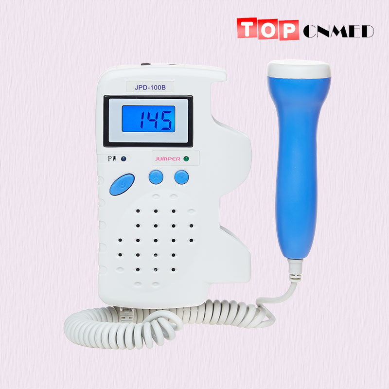 Batterie Rechargeable et chargeur sonde 2.5 MHz écran LCD moniteur prénatal à ultrasons détecteur Doppler foetal FHR