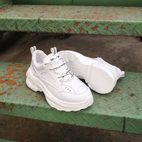 2019 Spring New Chunky Sneakers Women Harajuku Casual Platform Dad Shoes White Sneakers Braised Shoes