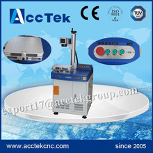 High precision AccTek laser marking machine for steel plate, metal engraving machiney