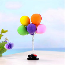 1pcs Cute Colorful Balloon Figures lovely decorative mini fairy garden animals statue miniature Moss ornaments craft(China)